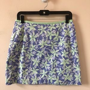 Lilly Pulitzer Purple Floral Pencil Skirt- Size 8